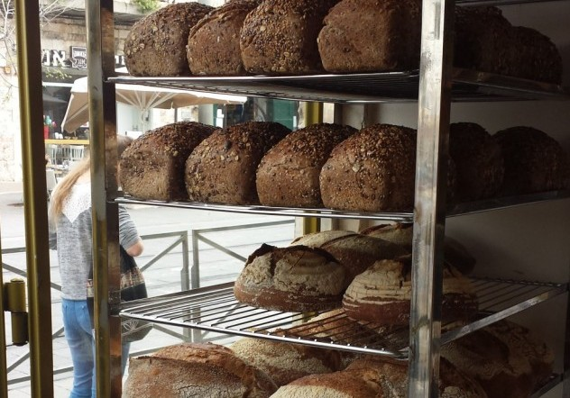 LOAVES OF FRESHLY BAKED BREAD