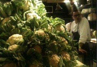 ONLY THE FRESHEST PRODUCE FOR THE CHEF, EYAL SHANI...!